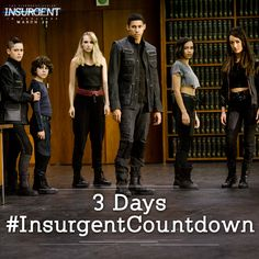 Initiates, 3 DAYS left! Who are you taking to see Insurgent with? Tix: http://insur.gent/tix #InsurgentCountdown