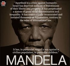It was wrong in South Africa and it is wrong in Palestine. Imagine what an international movement like that for South Africa could do for the Palestinians. Free Palestine.