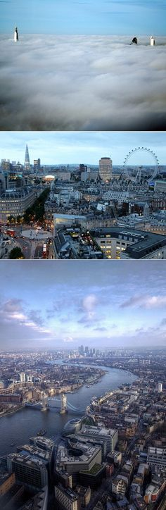 The breathtaking view from The Shard - London