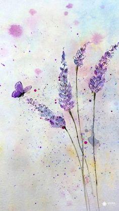 色彩ლ水彩(❁´◡`❁)*✲゚*清新、花卉、雅、手绘、插画、水墨