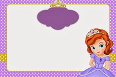 Sofia the First: Invitations and Free Party Printables. - My WordPress Website Princess Sofia Birthday, Princess Party Games, Sofia The First Birthday Party, First Birthday Banners, 3rd Birthday, Princesa Sophia, Disney Background, Birthday Party Centerpieces, Baby Images