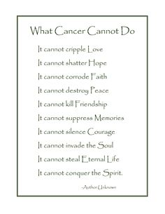 What Cancer Cannot Do. every single day i miss my daddy