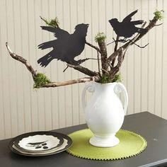 Raven Urn Centerpiece