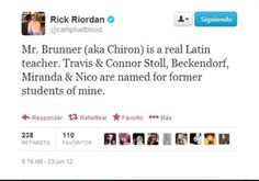 "Can you imagine the guy who inspired Nico. ""Thanks Mr. Riordan! Apparently I'm gay and in terrible emotional angst."""