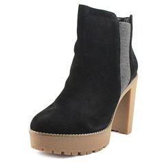 Nine West Idelle Women US 7.5 Black Platform Heel, Size: 7.5 Medium, Black/Grey