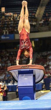 Alabama gymnastics finishes as Florida, Oklahoma named NCAA co-champions Lsu Gymnastics, Amazing Gymnastics, Acrobatic Gymnastics, Gymnastics Pictures, Artistic Gymnastics, Gymnastics Leotards, Ballet Leotards, Kids Leotards, Gymnastics Championships