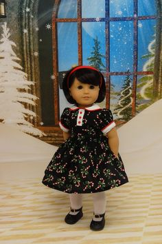 Candy Cane Cutie  vintage style dress for by cupcakecutiepie
