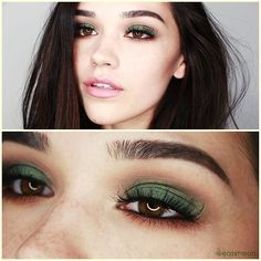 green eyeshadow, this would look fab on Mallory ;-)