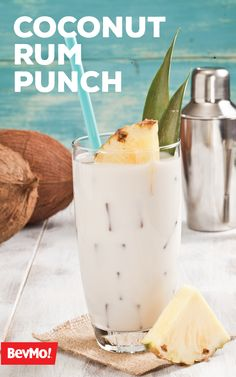 With rum, coconut milk, mango juice, and pineapple juice inside, it's not hard to see why this Coconut Rum Punch recipe from BevMo! will be such a favorite for summer. How will you choose to sip on this tropical cocktail? Coconut Rum Punches, Pineapple Mojito, Best Key Lime Pie, Rum Punch Recipes, Keylime Pie Recipe, Non Alcoholic Drinks, Cocktails, Refreshing Drinks, Dessert Recipes