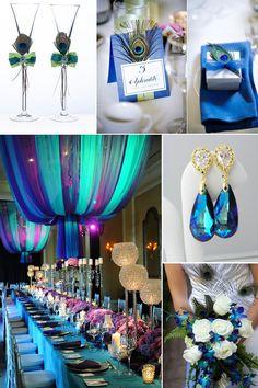 peacock wedding theme | Gallery of Colourful Peacock Themed Wedding