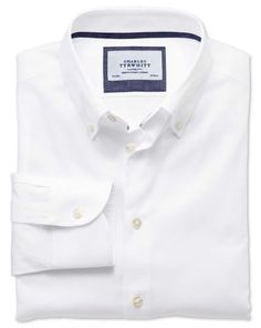 Details about steven land dress shirt white club collar for Business casual white shirt