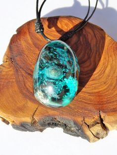 Capsula de mar azul hecho a mano conchas del mar por FociFusta
