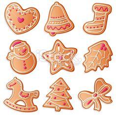 Christmas cookies Royalty Free Stock Vector Art Illustration