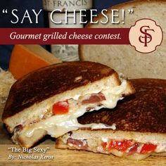 """Our infamous """"Big Sexy"""" A wonderful grill cheese delight for a wine pairing! My hubby created it and  named it after me!! Our famous Big Sexy  finished in the top 3 wine and food pairing contest! Great with a full bodied Cab!"""