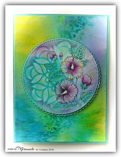 'Mir'acle Art Inspirations Dahlia Flower, Hibiscus Flowers, Dt Post, Gel Press, Ink Painting, Card Making, Colours, Cards, Mini