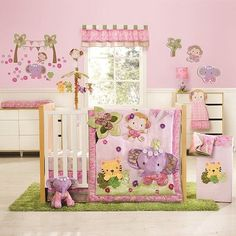 Kidsline Blossom Tails Crib Bedding Collection