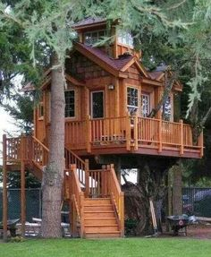 Tree house for grown ups.  Imagine living in one.