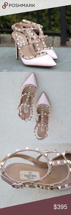 8c7ce7bc65e2 Valentino Pink RockStud Slingback Pump High Heels Beautiful pump thats  definitely a headstopper. Size 37