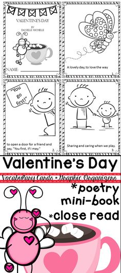 Valentine's Day Close Reading includes mini book, vocabulary cards, graphic organizers, close reading tools, & more!$ Repinned by SOS Inc. Resources pinterest.com/sostherapy/.