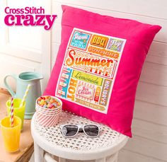 This Emma Congdon design from issue 192 of Cross Stitch Crazy is the perfect way to celebrate summer! Click here to buy a copy http://secure3.subscribeonline.co.uk/origin/products.sol?mag=CSCZ or visit your app store to download it to your tablet or smartphone!