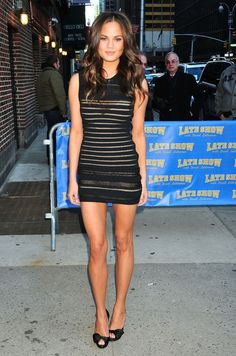 Chrissy Teigen Visit 'Letterman'