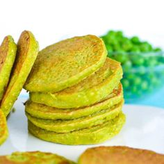 Pea Pancakes, kids love this easy, tasty, wheat free recipe. Packed with protein making it a great snack, perfect in the lunch box or for baby led weaning