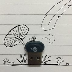 On instagram by srinivas_87 #madewithpaper #enclavedepod (o) http://ift.tt/1LU6tYA mushroom is healthy for your pc.   #mushroom #bluetooth #usb #logitech #dongle #doodle #doodleoftheday  #paper53 #fiftythree #lol #frog #swamp #drawing #vsco #vscoart #vscodaily #evening #sunday #relax #artist #artistoninstagram #srifofree #funny #wireless