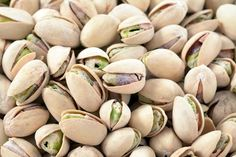 Pistachios are one of the healthiest nuts available due to their high content of protein, calcium, iron, copper, oleic acids, and antioxidants such as vitamins A & E. Pistachios contain less fat than most other nuts and are inclined to be alkaline-forming which is essential in healing illnesses and disease.