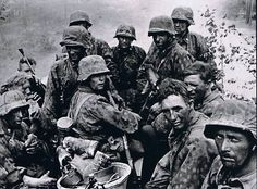 Soldiers of the 3rd SS Panzer Division during the Battle of Kursk, ca. 1943.
