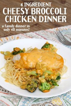 Easy 4 ingredient broccoli chicken dinner. Perfect for families on the go!!