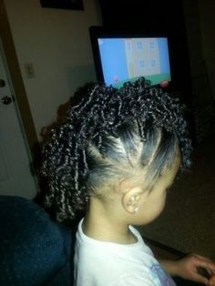Biracial hairstyles, toddler hairstyles, Mohawk, faux hawk, curly hair, mixed girls.  Beautiful girls hair styles: