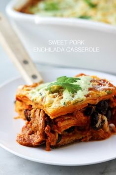sweet pork enchilada casserole