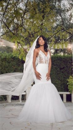 Eniko Parrish wore a custom Vera Wang  wedding gown with lace bodice and tulle skirt to her wedding ceremony to Kevin Hart in 2016.