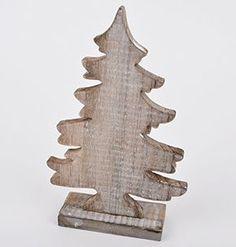 Tannenbaum Xmas Deko Design Objekt Holz braun natur Xmas (30x19x5cm)