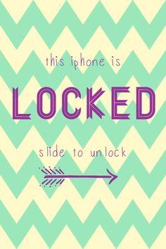 Lock Screen iPhone Wallpaper