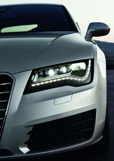 ♂ Silver Audi LEDs Very sweet ride Audi A7, Audi Quattro, Bugatti, Lamborghini, Ferrari, Sexy Cars, Hot Cars, My Dream Car, Dream Cars