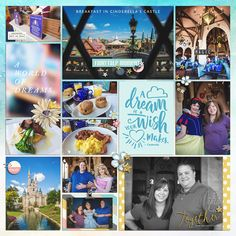 A Dream is a Wish your Heart Makes Disney Project Life layout using Project Mouse: Beginnings Kit and Journal Cards by Sahlin Studio and Britt-ish Designs