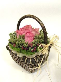 Dried Flower Arrangement Dainty Rose by summersweetboutique, $18.00