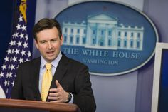 Anything else you want to tell us Mr. President? WASHINGTON, DC - FEBRUARY 10: White House Press Secretary Josh Earnest speaks to the media during his daily briefing in the Brady Briefing Room, February 10, 2015 in Washington, DC. Secretary Earnest spoke on various issues including the situation in Ukraine and Syria. Credit Mark Wilson/Getty Images