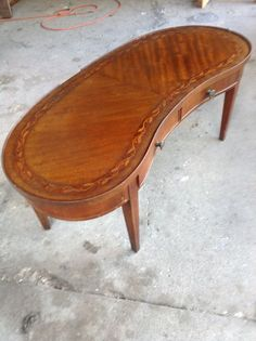 Kidney Shaped Inlay Coffee Table