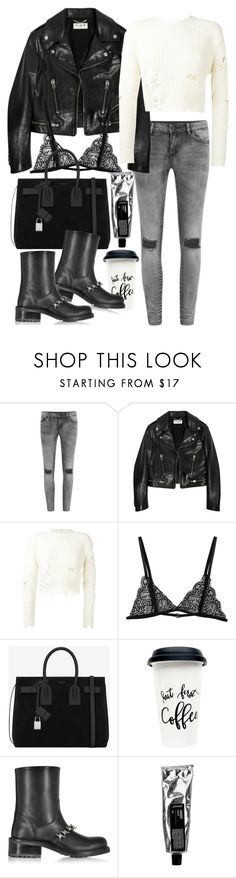 """Untitled #1978"" by victoriamk ❤ liked on Polyvore featuring VILA, Yves Saint Laurent, adidas Originals and Dsquared2"