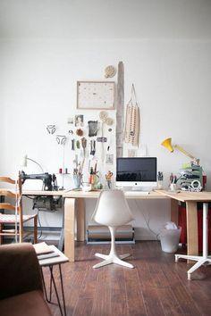 Sewing workspace.