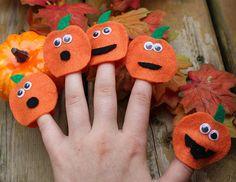 Five Little Pumpkins Finger Puppets Busy Box Halloween