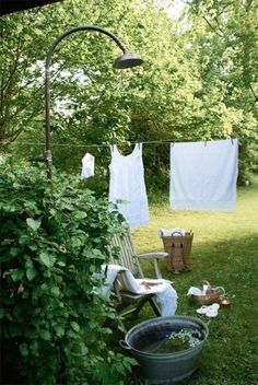 Sweet Country Life ~ Simple Pleasures ~ Laundry Day ~ Clothes line Country Life, Country Living, Country Style, French Country, Dream Garden, Home And Garden, Garden Bed, Cacti Garden, Garden Living