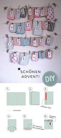 Adventskalender // Advent-DIY // Ein Stück vom Glück