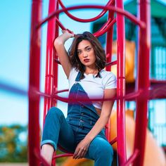 Wanna come and play? Playground Photography, Creative Portrait Photography, Portrait Photography Poses, Photography Poses Women, Girl Photo Poses, Girl Photos, Photographie Indie, Shotting Photo, Cute Poses For Pictures