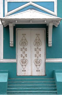 blue doors in san juan, puerto rico by manyfires, via Flickr