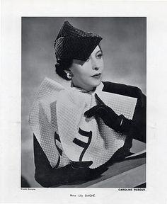 Caroline Reboux (Millinery) 1937 Lily Daché