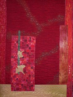 """Red Will Make It Better by Sonia Grasvik (detail) 33"""" x 47.  Photo by Idaho Beauty Quilts.  2011 Pacific West Quilt show."""