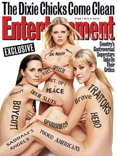 Dixie Chicks, Entertainment Weekly - Top 10 Nude Magazine Covers: From Kim Kardashian to Lennon - TIME